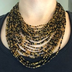 Handcrafted Layered Bead Necklace